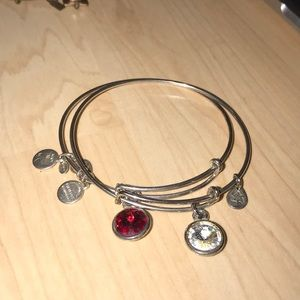Silver & Red stone Alex and Ani